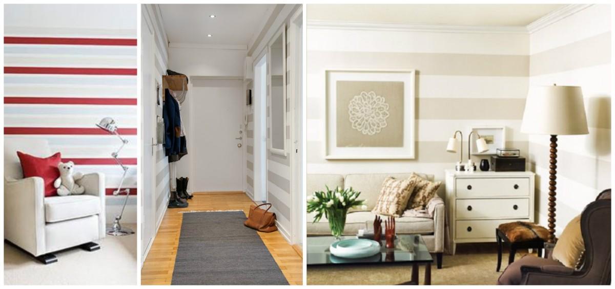 El poder de las rayas horizontales - Pintar paredes a rayas horizontales ...